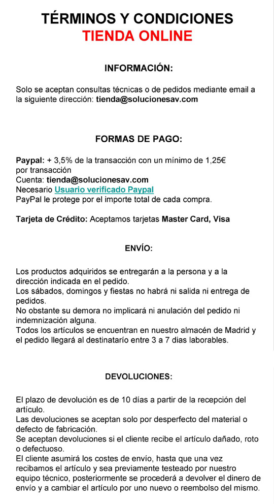TERMINIOS Y CONDICIONES DE COMPRA